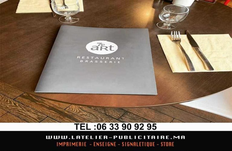 conception carte restaurant a marrakech